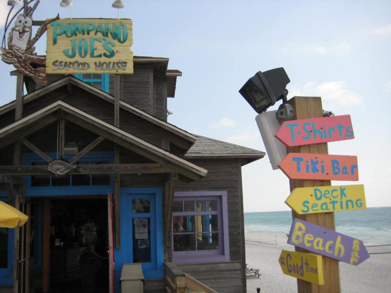 Pompano Joes just across the street for some local flavor