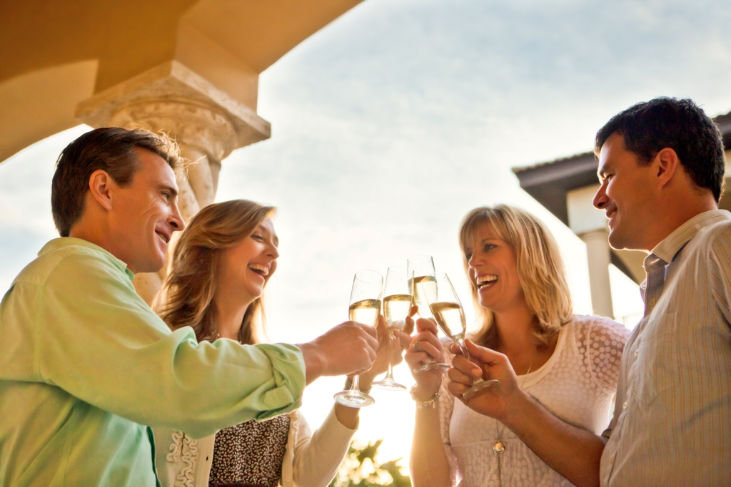 Guests of NewmanDailey Resort Properties toast the New Year overlooking the beaches of Destin