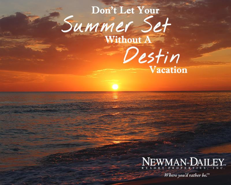 Welcome Late Summer Value Season for Destin Vacation Rentals