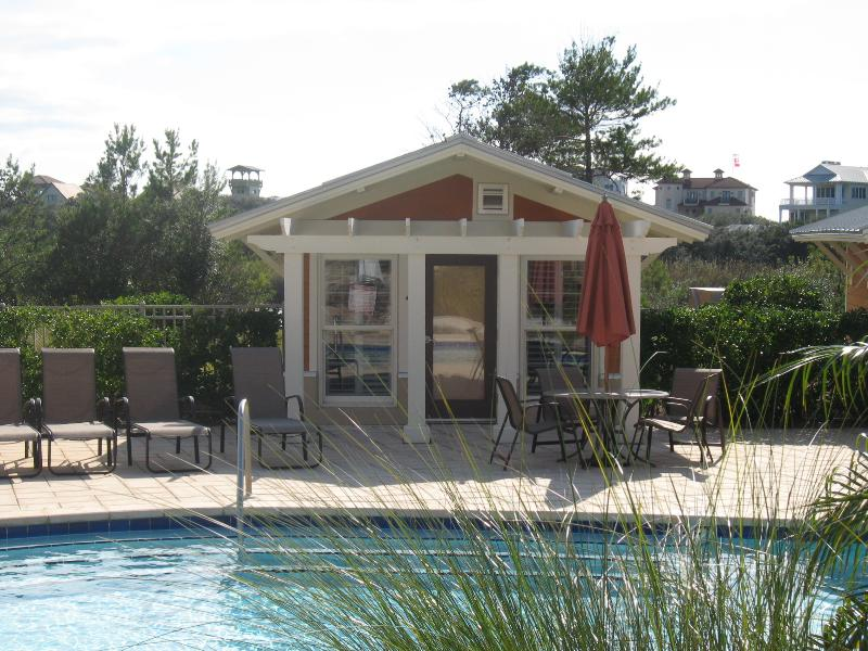 Limited pool cabanas available for an additional fee with designated units 2115